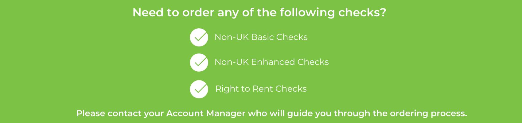 Ordering Non-UK AML Checks